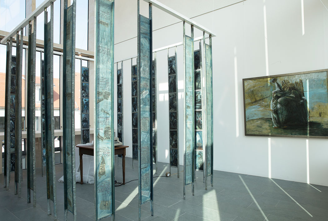 Installation FN-Schlaufe im Naumburger Nietzsche-Dokumentationszentrum